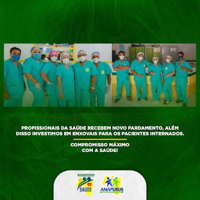 Prefeitura de Anapurus adquire novos uniformes para os servidores da saúde