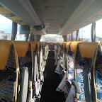 Het interieur van de Mercedes Tourismo van South West Tours bus 53