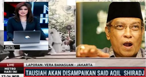 Ketua PBNU Said Aqil Marah, Metro TV Bikin Berita Hoax Tentang Dirinya
