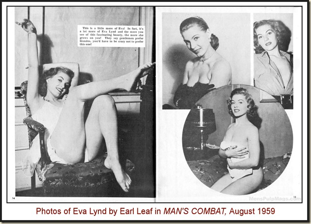 MAN'S COMBAT, Aug 1969 - Eva Lynd photos by Earl Leaf REV2