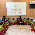 Juice Making Activity by Playgroup Section at Witty World, Bangur Nagar (2018-2019)