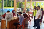 HUT Bhayangkara Ke-75, Diwarnai Giat suntik Vaksin di Wilayah Hukum Polsek Patokbesi