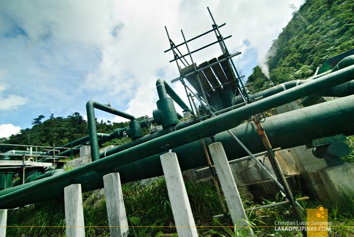 Pipes at Bicol's BacMan Geothermal Plant