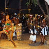 Traditional dancing at Boma