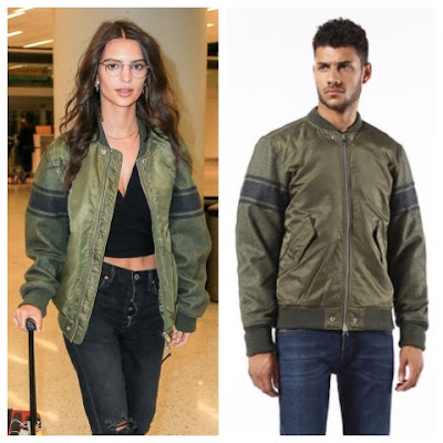 Emily Ratajkowski at JFK Airport in Diesel Jacket