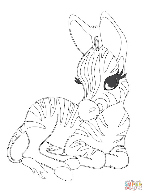 Coloring Pages Zebras  Click The Cute Baby Zebra Coloring Pages To View  Printable