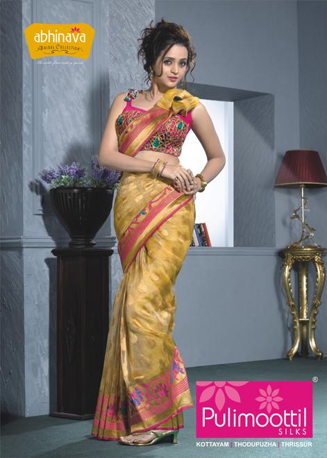 Bhavana's Hot Photoshoot For Silk Saree Shop Promotion