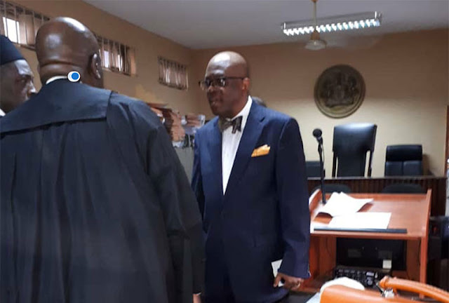 Exclusive Update: NBA President, Paul Usoro, arrives court for arraignment