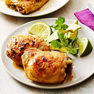 Chicken in Avocado-Buttermilk Marinade