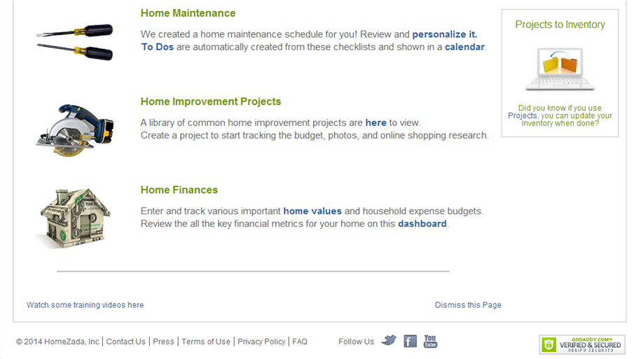 HomeZada Provides Home Maintenance Lists, Tracks Finances and Projects, and More