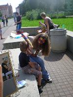 A už malujeme po dětech...