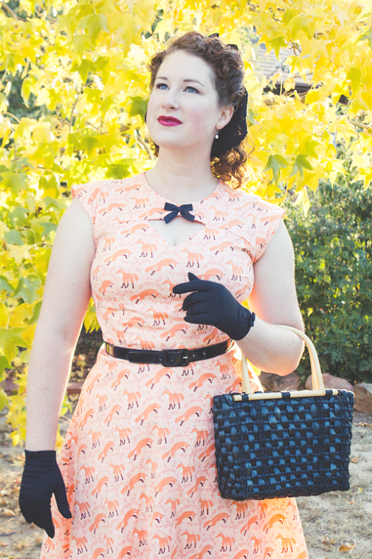 Vintage 1940's style ~ featuring Bernie Dexter Fox dress and vintage accessories | Lavender & Twill