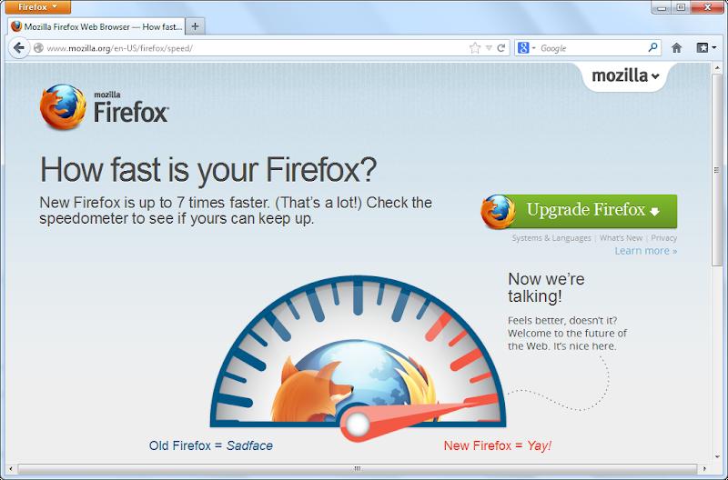 แค่ปรับรุ่นอยู่เสมอก็ทำให้ Firefox นั้นเร็วส์ขึ้นอยู่แล้ว