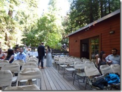 Waiting of crowd to arrive  -- Michael and Anna, Wedding Day, Camp Meeker California, July 21, 2018