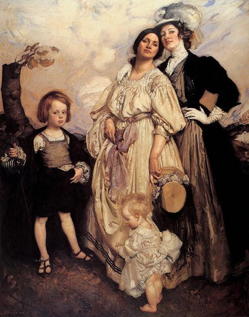 George Lambert - Portrait Group,1907