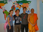 Tom, Iona, Kate and a resident monk