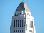 LA City Hall zoomed in