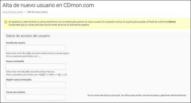 Abrir mi cuenta Cdmon - 4