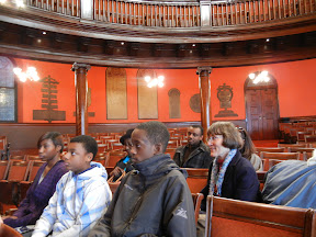 Our Confirmation class listening to their history lesson