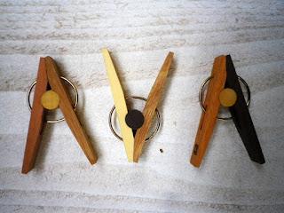 木のセンタクバザミ(小) mini wood clip