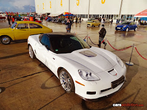 White Corvette ZR1