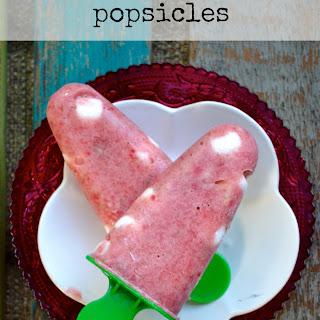 Strawberry Banana Marshmallow Popsicles