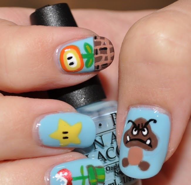 Thatleanne Chococat Nail Art: Thatleanne: Mario Bros. Nail Art