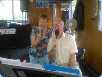 Diane Lhyons and Peter Jackson dueting.