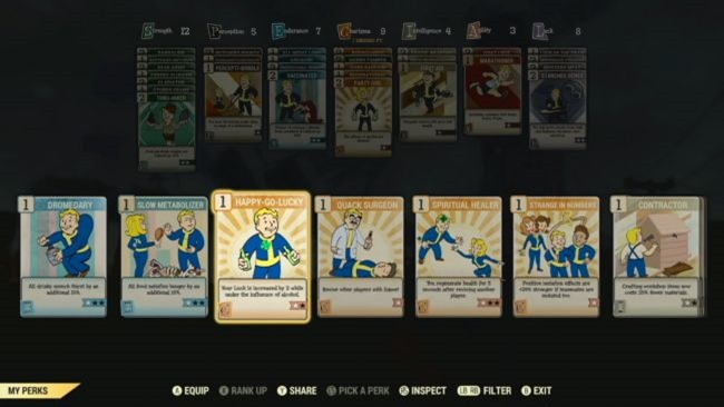 Fallout 76 verändert die Funktionsweise von Perks radikal