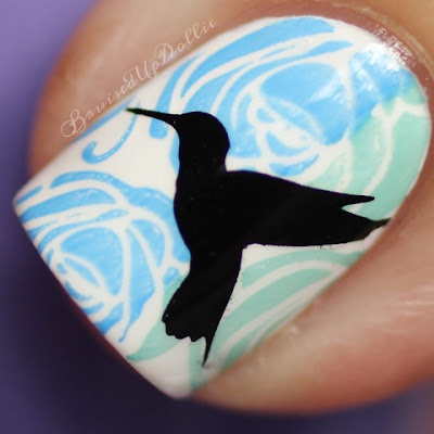 Colores de Carol Hummingbird stamping macro
