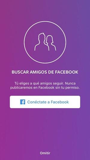 Buscar amigos de Facebook en Instagram