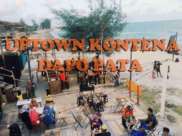 Uptown Kontena Dapo Pata-Tempat Makan Hipster Tepi Pantai Tok Jembal, Kuala Terengganu