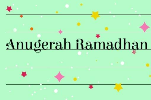 Anugerah Ramadhan... Alhamdulillah... 🤗