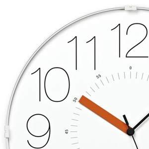 レムノスとけいCARAでんぱどけいホワイト秒針オレンジWR13-08WH-O あわつじデザイン プールアニックオンラインショップ