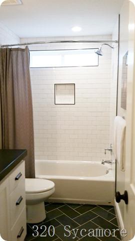 Fresh tile patterns in bathroom
