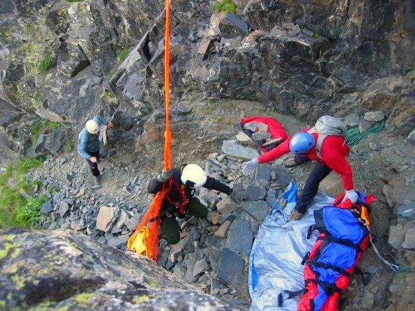The rescue scene on Mount Cowen in 2008.