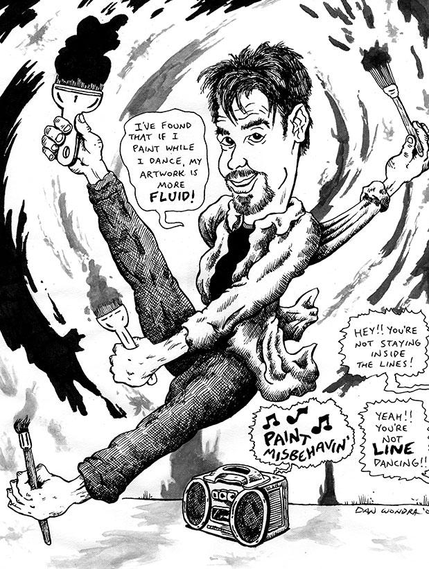 Caricature by Dan Wondra!