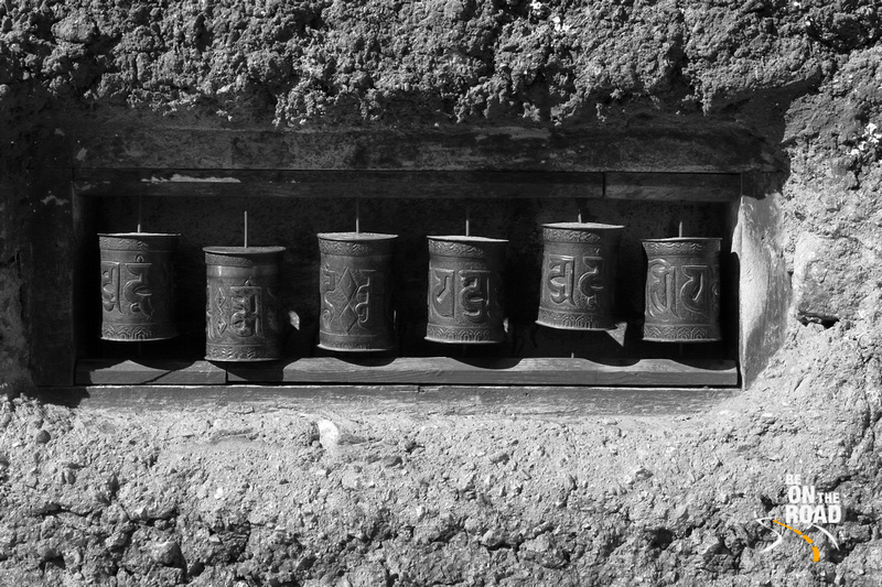 Om Mani Padme Hum Prayer Wheels at Nako