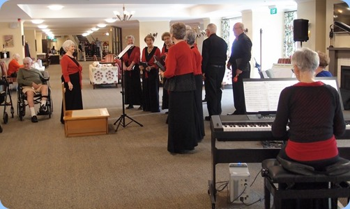 The Evelyn Page Choral Group conducted by Julia Bissett. Photo courtesy of Dennis Lyons.