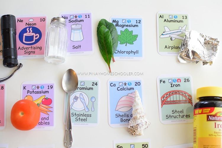 Element Cards with Household Items