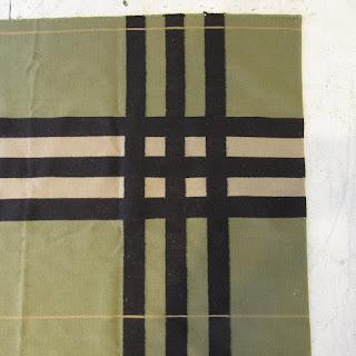 Oversized Plaid Wool Area Rug 3