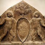 Venise - Tympan armorié (pierre, seconde moitié du 15e siècle)