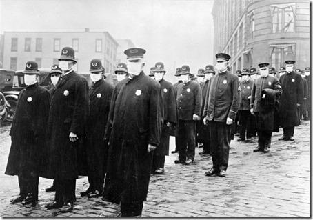 Police in masks