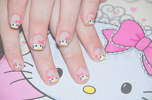 The Glamorous Pictures of hello kitty nail designs Photo