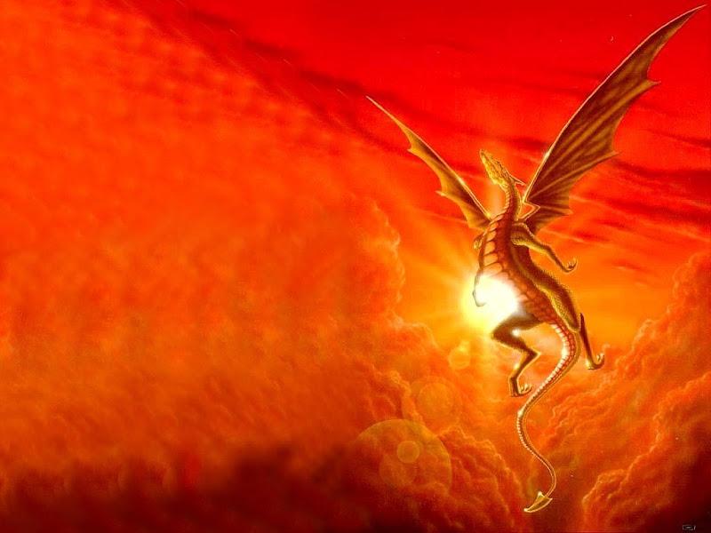 Sunset, Dragons