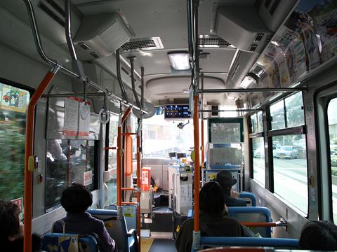 西日本鉄道 高宮循環線 7831 車内