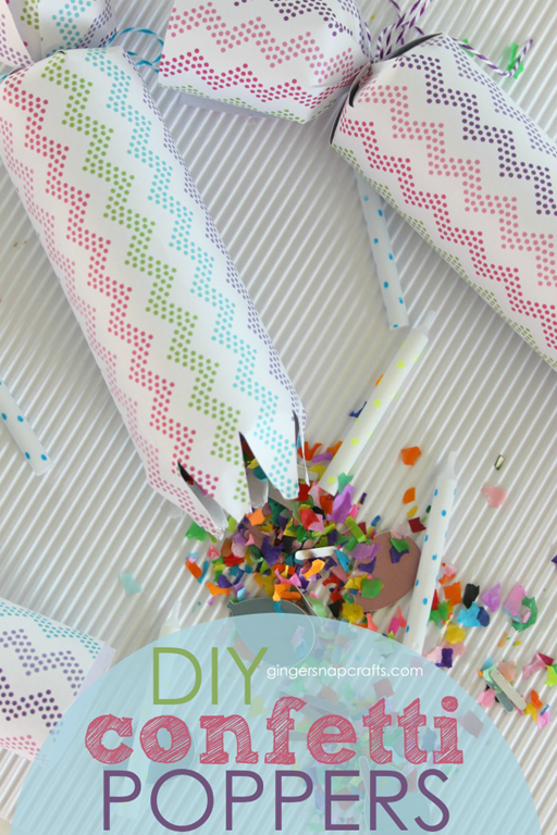 DIY Confetti Poppers at GingerSnapCrafts.com #madewithCricut