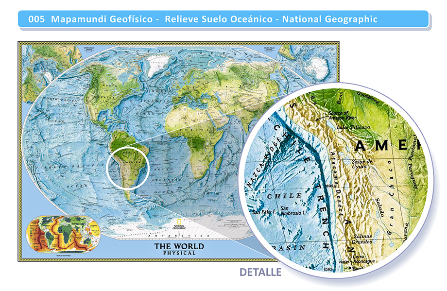 Mapamundis Mapas y Planisferios - Posters Adhesivos Gigantes - Arteygraficadigital