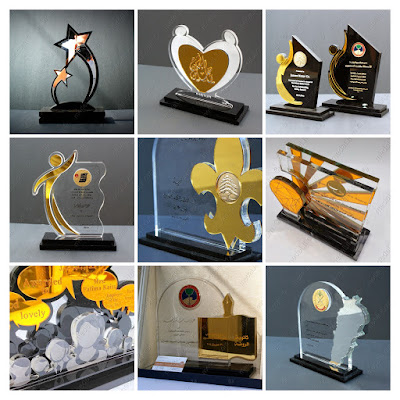 Glitter Acrylic Trophies