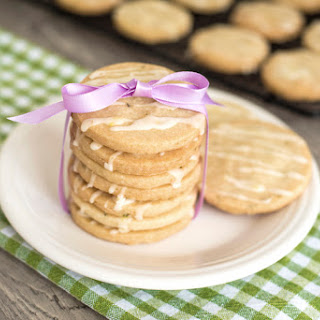 Shortbread Cookies With Herbes de Provence And Lemon Glaze